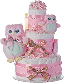 diaper cake with owls