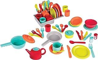 Battat BT2619C1Z Deluxe Kitchen Pretend Play Accessory Toy Set (71 pieces including Pots & Pans)