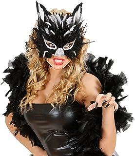 Colore Nero Fiestas Guirca Maschera Catwoman Donna maskcatnew