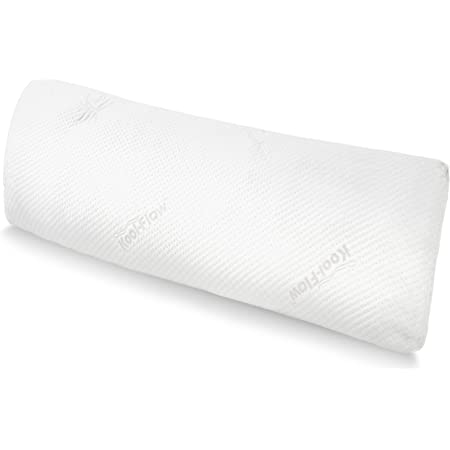 Snuggle-Pedic Full Body Pillow w/ Shredded Memory Foam, Cooling Bamboo Cover - GreenGuard Gold Certified, Made in USA, Kool-Flow Tech - Fits 20x54 Pillowcase