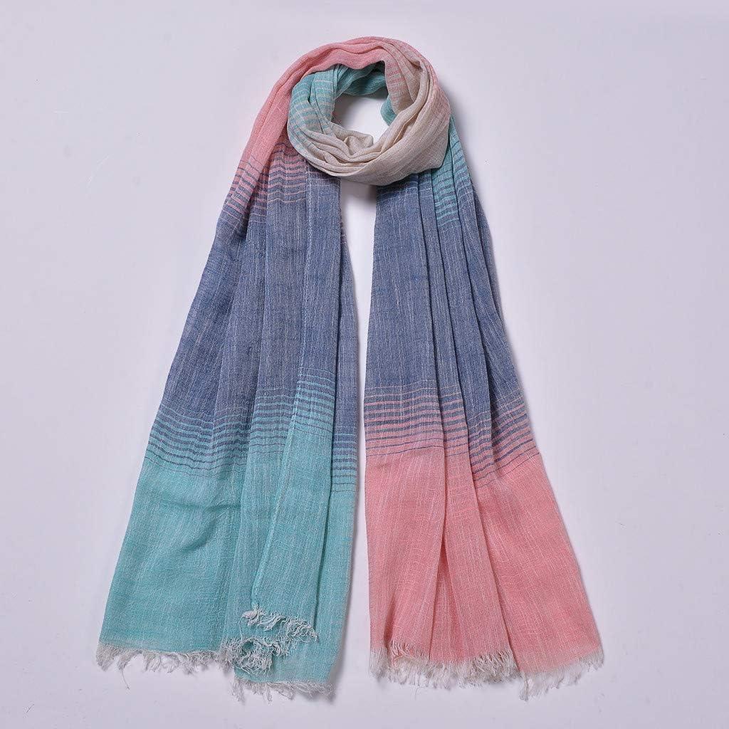 Scarfs for Women, Zyqzw Lightweight Stripe Scarf Shawl Fashion Scarves Sunscreen Wrap Head Shawls Neckerchief Muffler