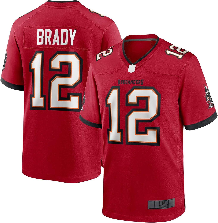 XIANER Football americano Tom Abbigliamento Brady Custom Tampa Felpa Bay Rugby Jersey Buccaneers Outdoor # 12 Gioco Traning Jersey Rosso