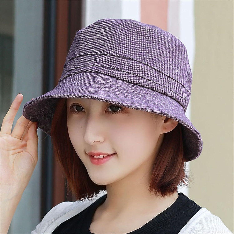 Ladies Women Sun Hat Fisherman's Cap Mother Cap Fashion Cap Fits Head Circumference 5458Cm Purple