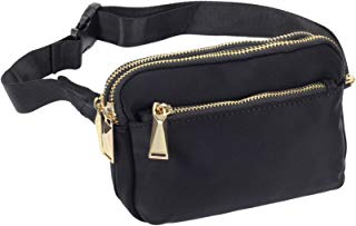 ZORFIN Fanny Pack for Men & Women Nylon Waist Pack Bag Hip Bum Bag with 3 Zipper Pockets