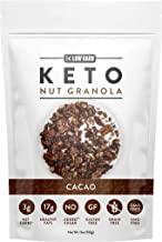 Low Karb - Keto Cacao Nut Granola Healthy Breakfast Cereal - Low Carb Snacks & Food - 3g Net Carbs - Almonds, Pecans, Coco...