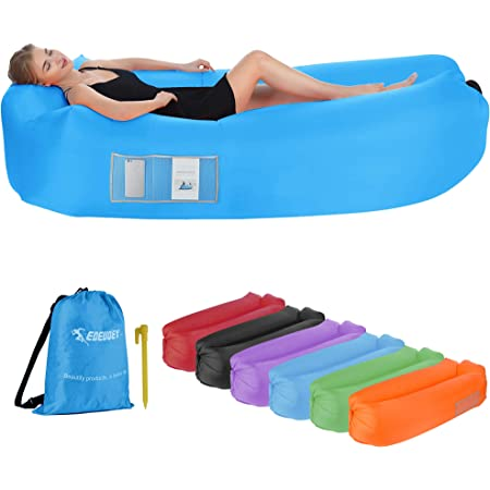 Red Inflatable Lounger air sofa easy carry portable sofa Red