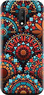 AMC Design OnePlus 7 TPU Silicone Case with Geometrical Mandalas Pattern