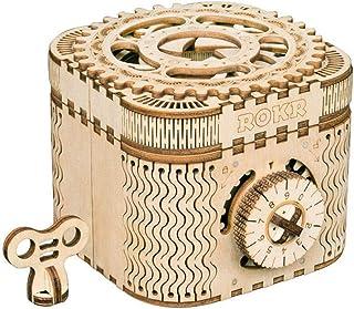 comprar comparacion ROKR Caja del Tesoro 3D en Madera,3D Rompecabezas de Madera Kit de Construcción Sin Pegamento para Niños y Adultos