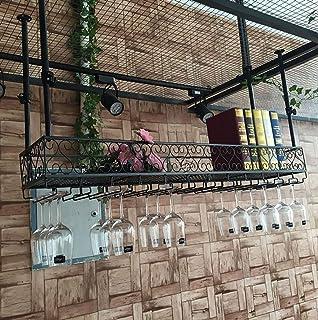Armarios para vino Estantería de vino Montado en la pared, Soporte de exhibición de hierro Sostenedor de copa de vino, Rack de almacenamiento en copa para bodega/ barra de bar/ hotel/ restaurante