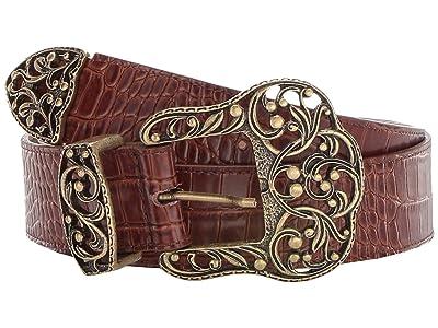Leatherock Gwenyth Belt (Croc Brandy) Women