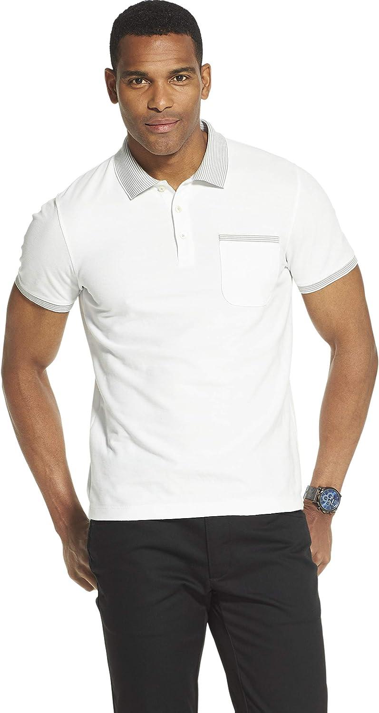 Van Heusen Men's Big and Tall Never Tuck Short Sleeve Solid Polo Shirt