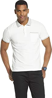 Van Heusen Men's Slim Fit Never Tuck Short Sleeve Solid Polo Shirt