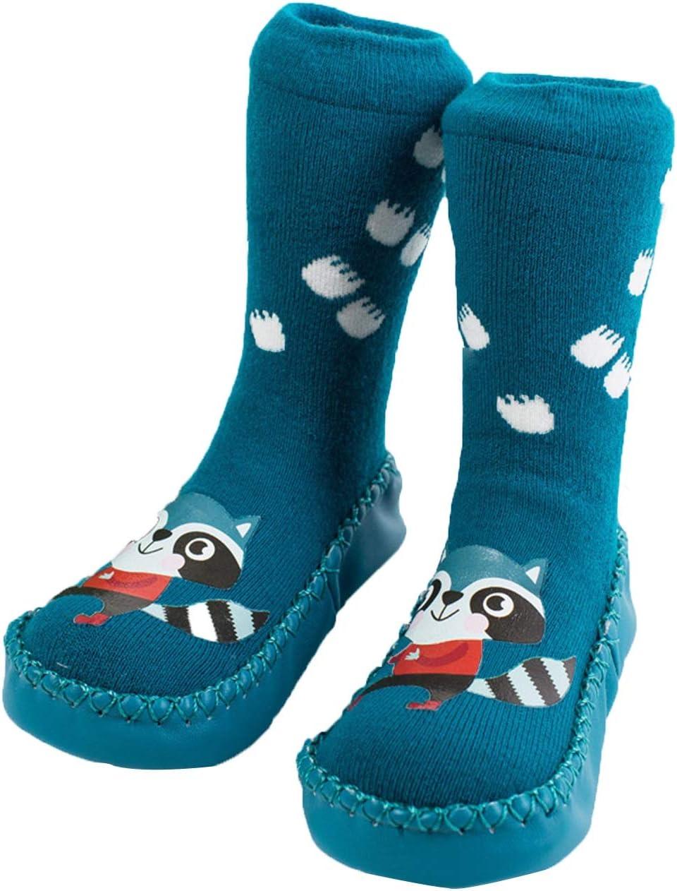 WUQIANG Floor Socks Japan Maker New Ranking TOP2 Children's Indoor Slippers Non-Slip Winter