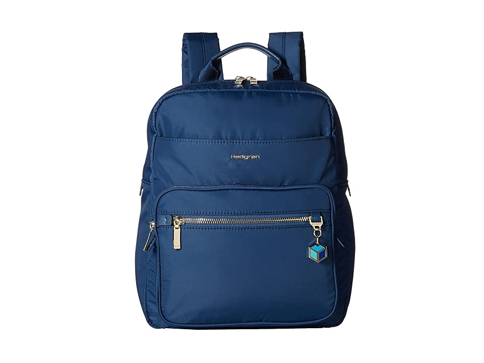Hedgren Spell Backpack with Leather Trim (Nautical Blue) Backpack Bags