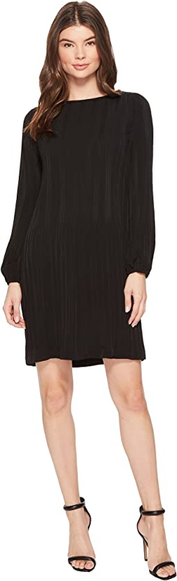CATHERINE Catherine Malandrino - Long Sleeve Pleated A-Line Dress