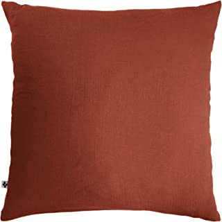 Taie d'oreiller Gaze de Coton 60 x 60 cm Terracotta (Orange)