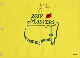 tiger woods autographed flag