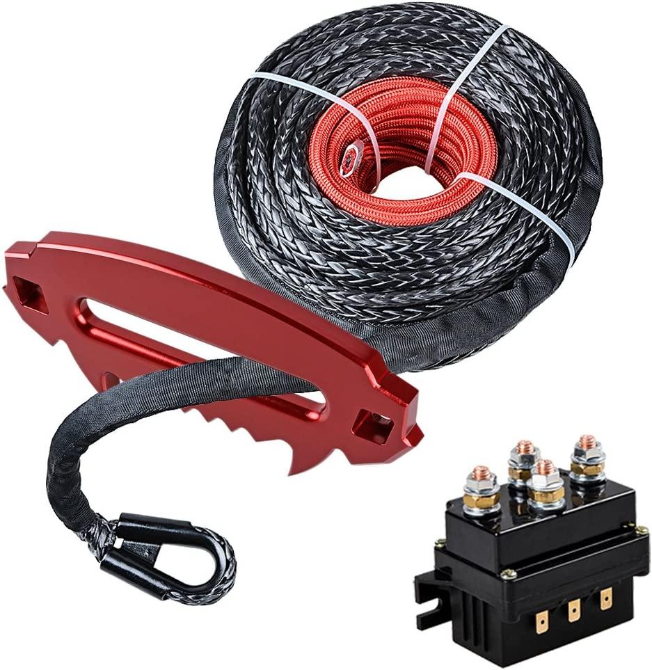 Astra Dealing full price reduction Depot Max 62% OFF Set 95' x 3 Synthetic 8 Cable Winch Rope Protective