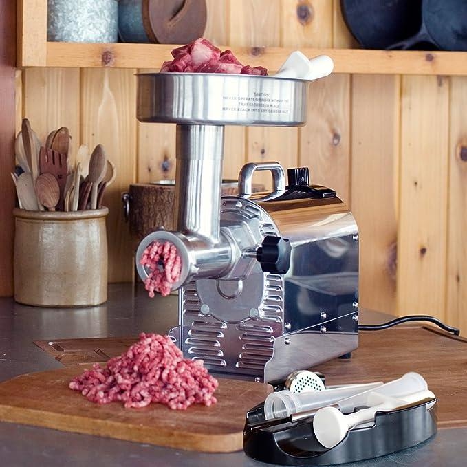 Weston 0.75 HP Pro Series #8 Meat Grinder, Silver