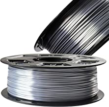 Silver Silk Metallic Shiny PLA 1.75mm 3D Printer Filament, 1kg Spool (2.2lbs) 3D Printing Material, Fit Most FDM Printers, with Extra Sample Pack Gift DO3D