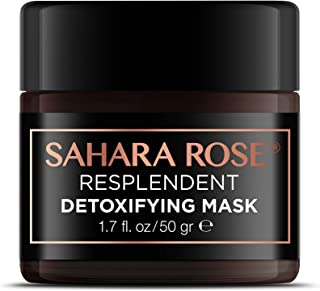 SAHARA ROSE Detoxifying Mask   Best Pore Exfoliant  Deep Cleansing Purifying, Brightening Face Mask with Cactus, healing Rose & Lava Clay   Vegan Cruelty Free