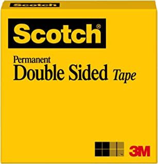 Scotch Brand Double Sided Tape, Photo-Safe, Engineered for Bonding, 1/2 x 900 Inches, Boxed, 1 Roll (665)