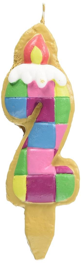 縁石リベラル極めて重要なクッキーナンバーキャンドル 2番 ブロック ケーキ用 56280020