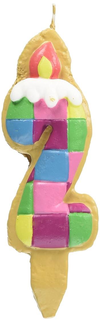 唯一君主意外クッキーナンバーキャンドル 2番 ブロック ケーキ用 56280020