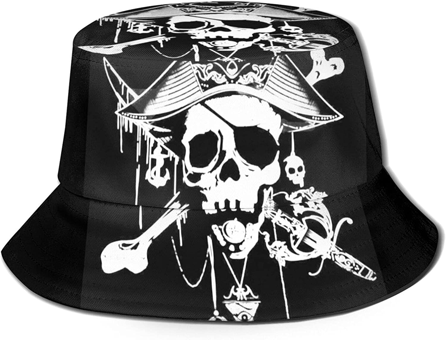 Pirate Skeleton Bucket Hat Unisex Sun Summer Fisher Large Outlet sale feature special price Packable