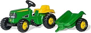 Rolly Toys 012190 - rollyKid John Deere mit Anhänger, Drehschemellenkung, Alter 2,5 - 5 Jahre, Heckkupplung