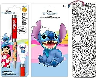 Disney Lilo and Stitch Pen Set ~ Includes Deluxe Projector Pen, Lilo and Stitch Decal Sticker, and Bookmark (Lilo and Stitch Party Favors)