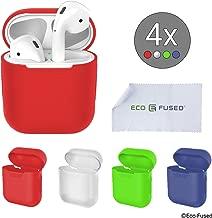 Cover Protettive Compatible con Case Apple AirPods - Confezione da 4 - Silicone - Protegge la Custodia delle tue AirPods dai Graffi e Urti - Offre una Presa Migliore - Aderenza Perfetta