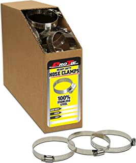 SAE Size 40 Box of 135 Pro Tie 33830 Regular Duty All Stainless Bulk Hose Clamps Range 2-1//16-Inch-3-Inch
