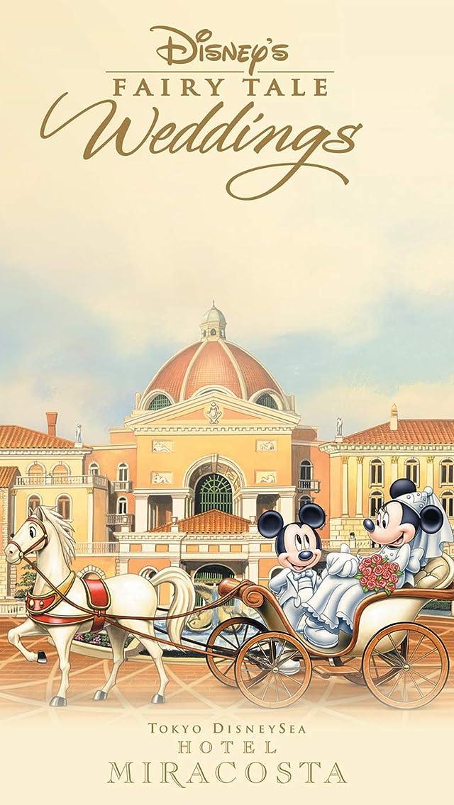 ディズニー 『フェアリーテイル・ウェディング』ミッキー,ミニー  iPhoneSE/5s/5c/5(640×1136)壁紙画像