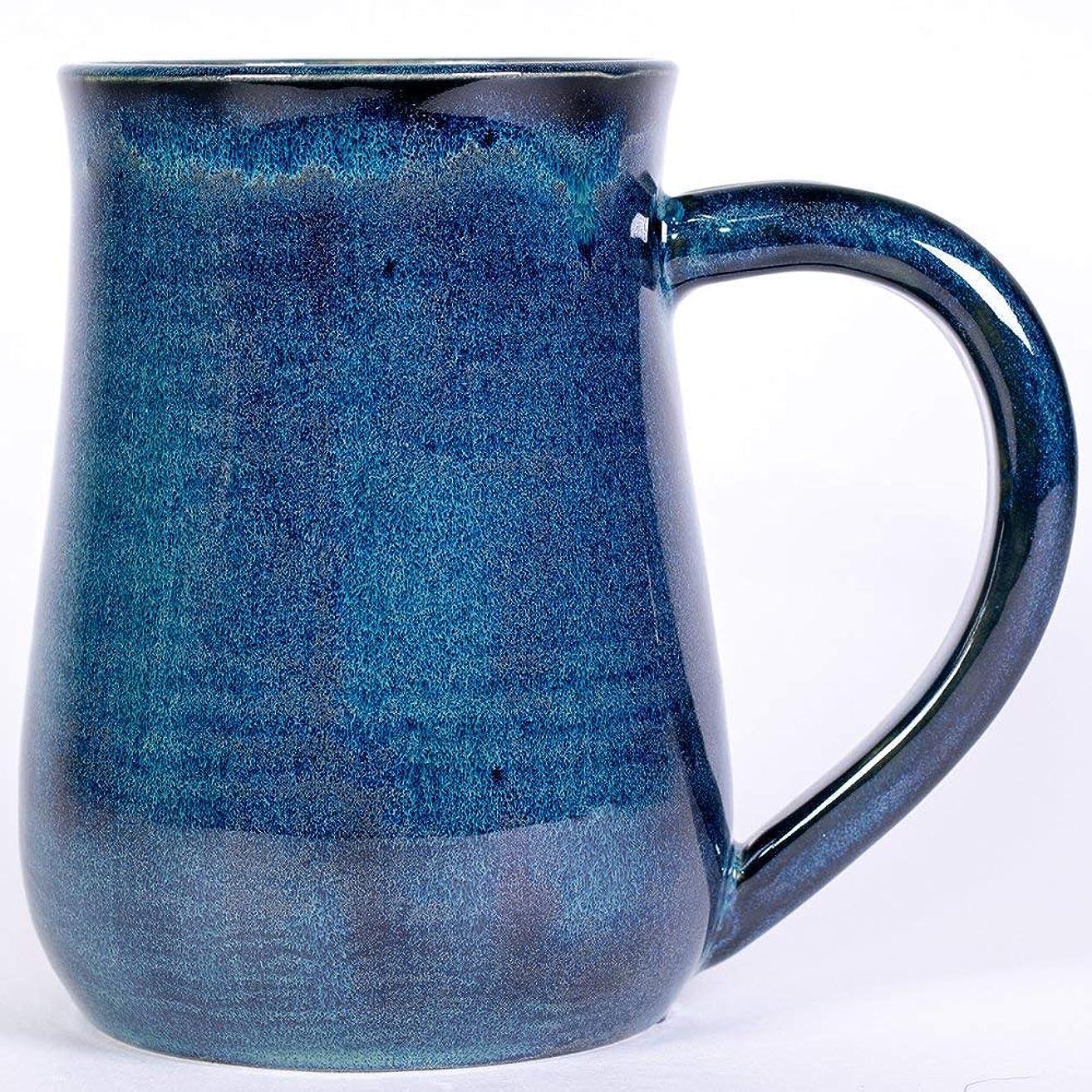 Blue and Green Handmade Pottery Mug