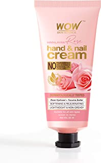 WOW Skin Science Himalayan Rose Hand & Nail Cream - Softening & Rejuvenating - Lightweight & Non-Greasy - Quick Absorb - F...