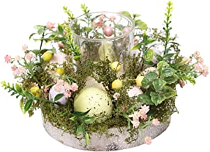 Fenteer 15x12cm Candle Holder Ring Centrepiece Table Top Decoration for Spring Summer Everyday Decorating Decorate Easter ...