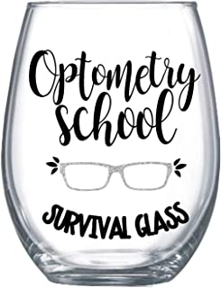Optometry Student Gifts for Women Stemless Wine Glass 20oz 0094