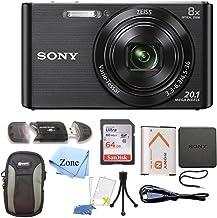 Sony DSC-W830 Cyber-Shot Cámara digital de 20,1 MP + 64GB tarjeta de memoria y accesorios Bundle