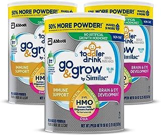 Similac 雅培 Go & Grow Non-GMO 幼儿奶粉 1-3岁,2'-FL HMO,36OZ/1.02kg,3罐装