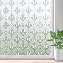 rabbitgoo Privacy Window Film Non Adhesive Frosted Glass Film Anti UV Window Sticker Self Static Cling Decorative Glass Film for Home Kitchen Living Room, Removable & Reusable, 17.5 x 78.7 inches