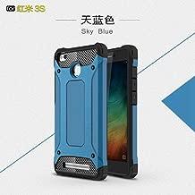 Sangrl Funda para Xiaomi Redmi 3S, Robusto y Durable Bumper Case Híbrida Resistente 2 en 1 Armadura Protectora Armadura Arañazos Cover Anti Caída Case - Azul