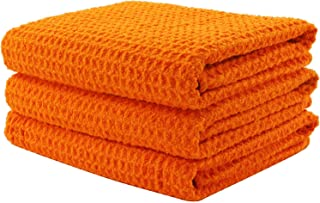 Aniease Dish Drying Towels, Microfiber Kitchen Towel Super Absorbent Fast Drying Waffle Weave Dishcloths, Set of 3 Cleaning Cloths Bar Towel
