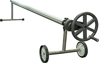 Sun2Solar 20-Foot Wide Stainless Steel Solar Cover Easy Gear Reel | Works with 8-Mil & 12-Mil Heating Blankets | Perfect for In-Ground or Above-Ground Swimming Pools