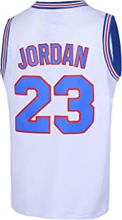 Mens 23# Space Movie Jersey Basketball Jersey S-3XL 90S Hip Hop Clothing for Party White/Black/Blue