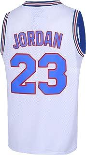Mens 23# Space Movie Jersey Basketball Jersey S-XXXL White/Black