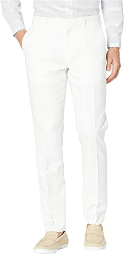 Slim Fit Linen Cotton End on End Dress Pants