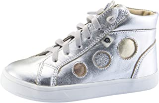 Old Soles Boy's and Girl's Round About High Top Leather Sneakers