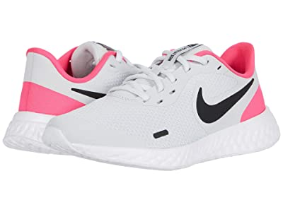 Nike Kids Revolution 5 (Big Kid) (Photon Dust/Black/Hyper Pink/White) Girls Shoes