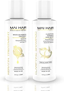 Brazilian Keratin Hair Treatment Complex + Keratin Clarifying Shampoo – Professional Effective Fast Acting Powerful Formul...
